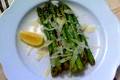 Pan Seared Spring Asparagus with Balsamic Citronette and Parmesan Dressing